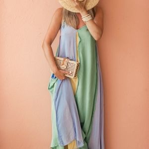 Nwot free people mixing it up maxi large